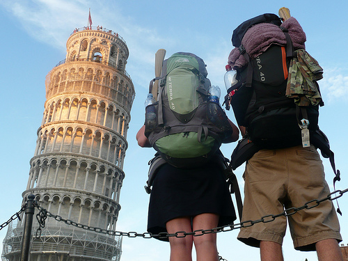 College students traveling abroad