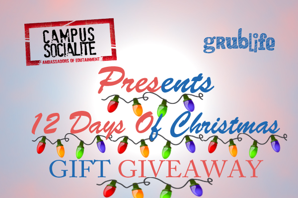 The Campus Socialite and Grublife Presents 12 days of Christmas giveaway