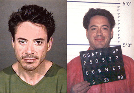 robert downey junior mug shots