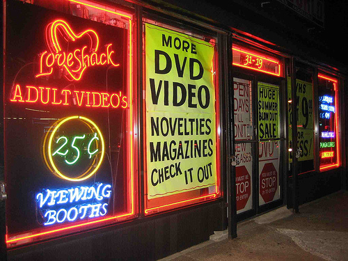 adult video store