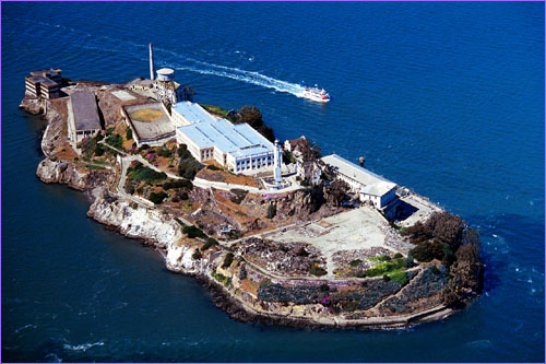 Aerial View of Alcatraz