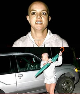 britney spears attacking paparazzi