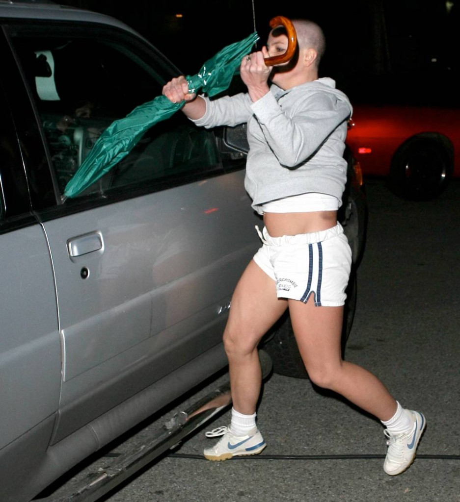 britney spears attacking car