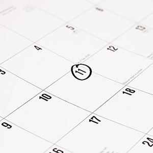 calendar date circled
