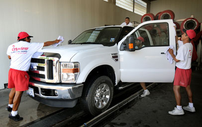 car wash summer