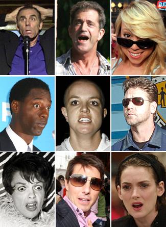 Celebrity meltdowns