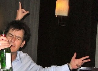 charlie sheen drunk