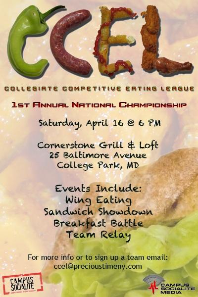 collegiate competitive eating league