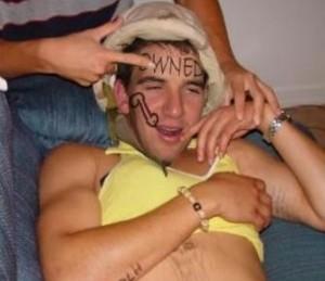 drunken college student