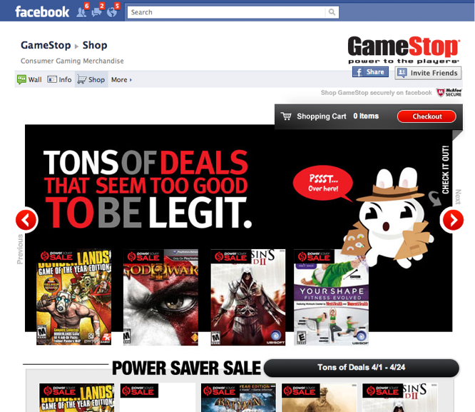 gamestop on facebook
