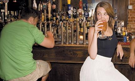Alone in bar