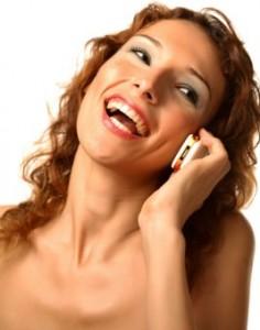 Girl making calls