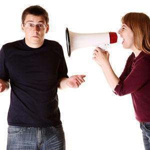 girl yelling at guy