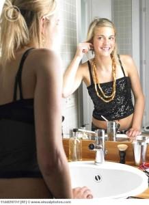 girl getting ready