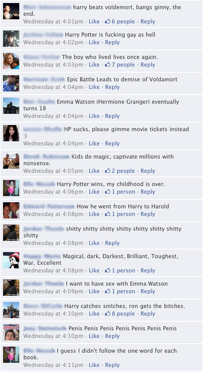 harry potter facebook contest