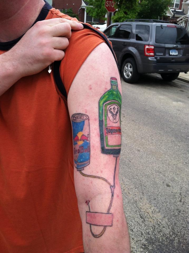 Jagermeister RedBull Tattoo