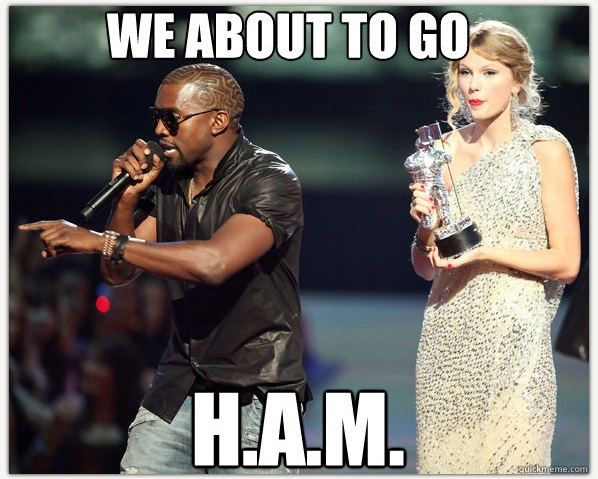kanye west taylor swift going h.a.m.