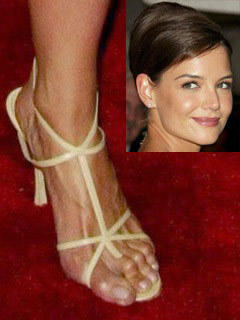 katie holmes ugly feet
