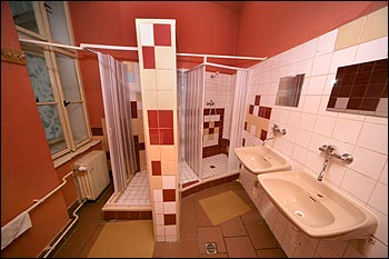 Hostel shared bathroom