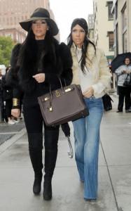 Kourtney & Kim Kardashian