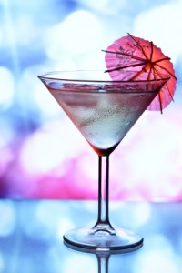 Martini with umbrella