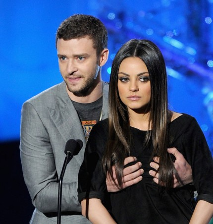 Justin Timberlake and Mila Kunis at MTV Movie Awards 2011