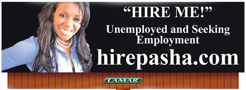 pasha stocking billboard1 The Campus Socialite presents: 5 Creative Ways to Land a Job After College