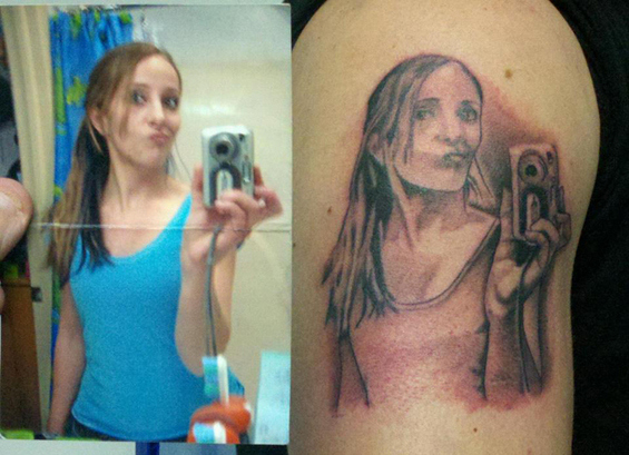 Selfie Photo Tattoo