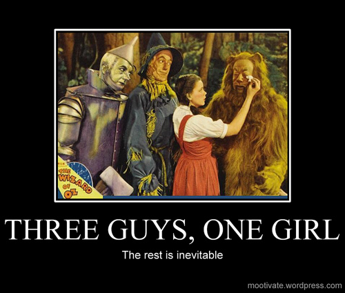three guys one girl