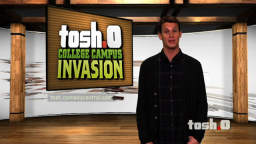 tosh.0 college campus invasion