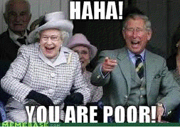 you are poor